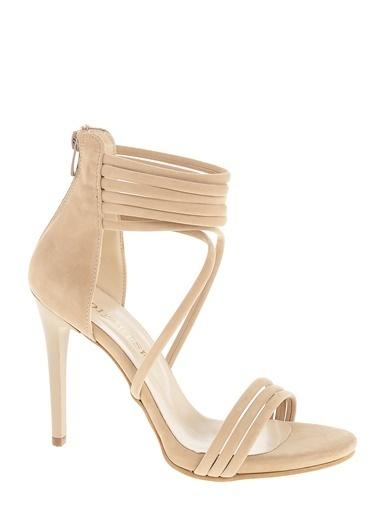 D by Divarese Kalın Topuklu Ayakkabı Taş